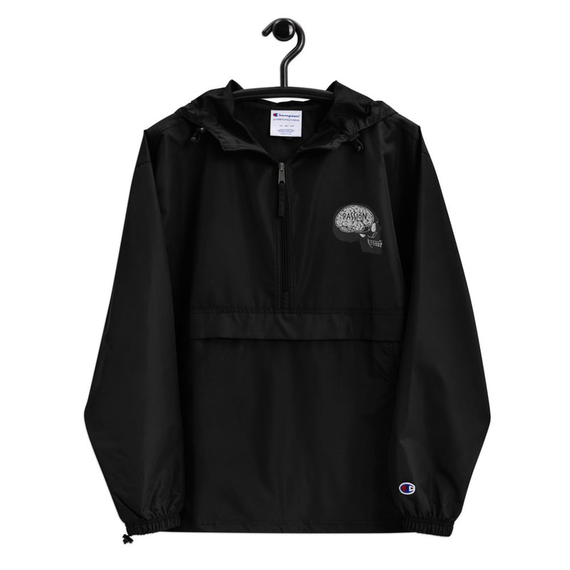 Skull Embroidered Champion Packable Jacket