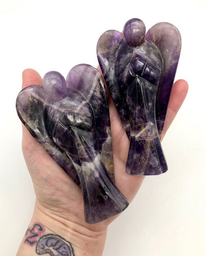 amethyst crystal angels - ZenJen shop
