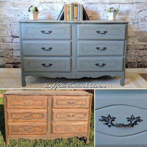 Dresser Before and After Painted