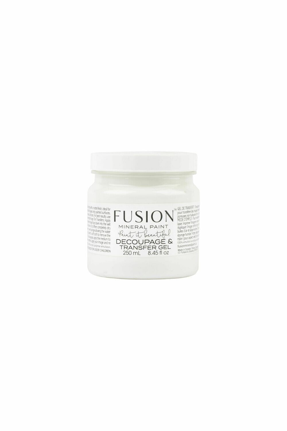 Fusion Mineral Paint Decoupage & Transfer Gel 250 ml