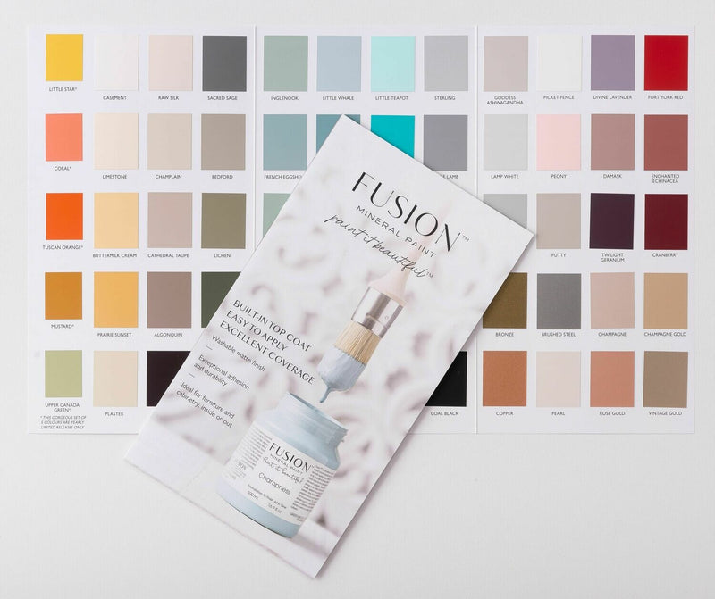 Fusion Mineral Paint True Color Card