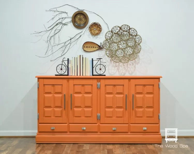 Tuscan Orange Fusion Mineral Paint Painted Furniture