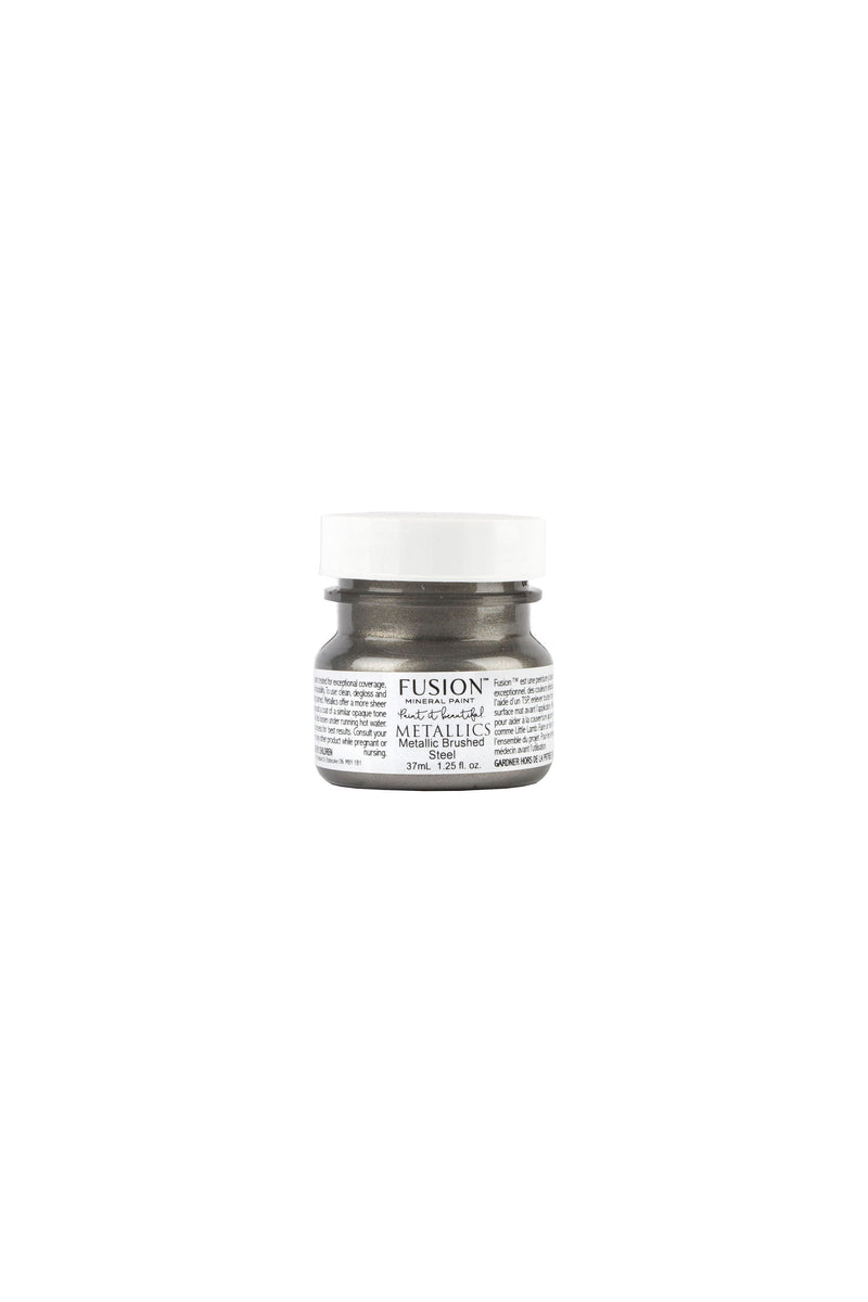 Brushed Steel Metallic Fusion Mineral Paint 37 ml