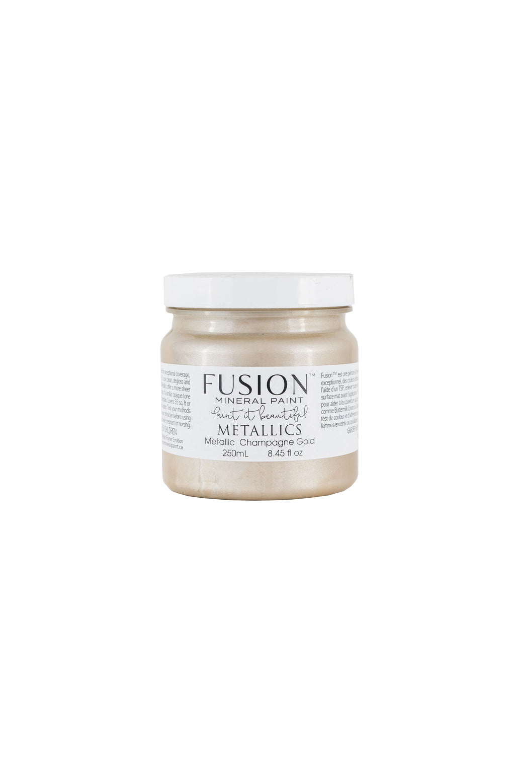 Champagne Gold Metallic Fusion Mineral Paint 250ml