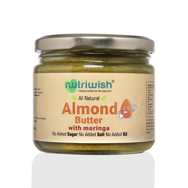 Nutriwish Almond Butter with Moringa, 250g