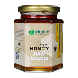 NUTRIWISH 100% Pure Organic Honey - Acacia 350 gm