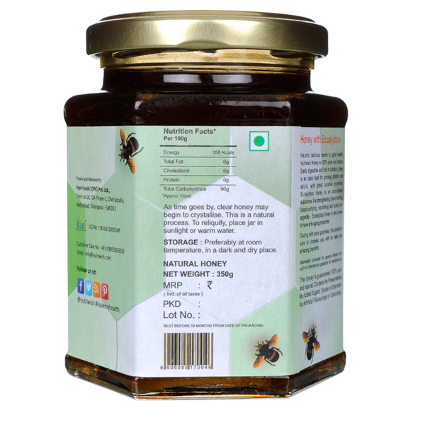 NUTRIWISH 100% Pure Honey - Infused With Eucalyptus 350 gm