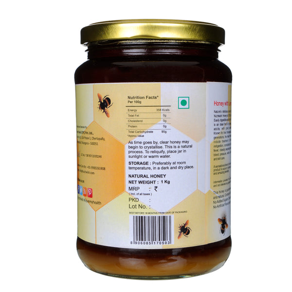 Honey with Lemon - 100 % Pure  Honey Infused With Lemon 1000 gm