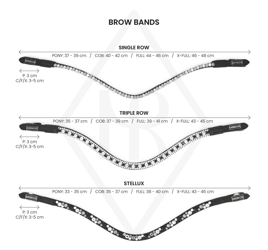 Mrs. Ros Browband Size Guide