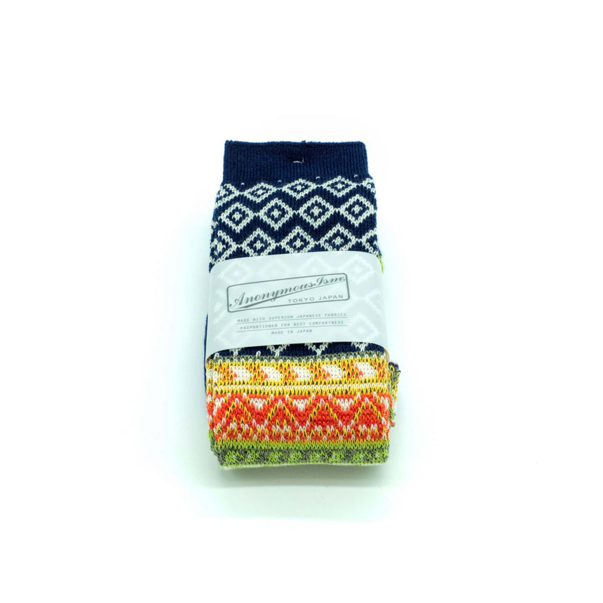 Anonymous-ism socks - Navy Patterned