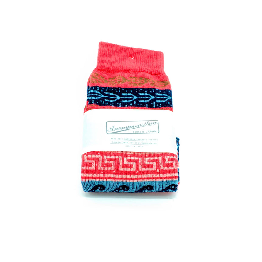 Anonymous-ism socks - Red Patterned