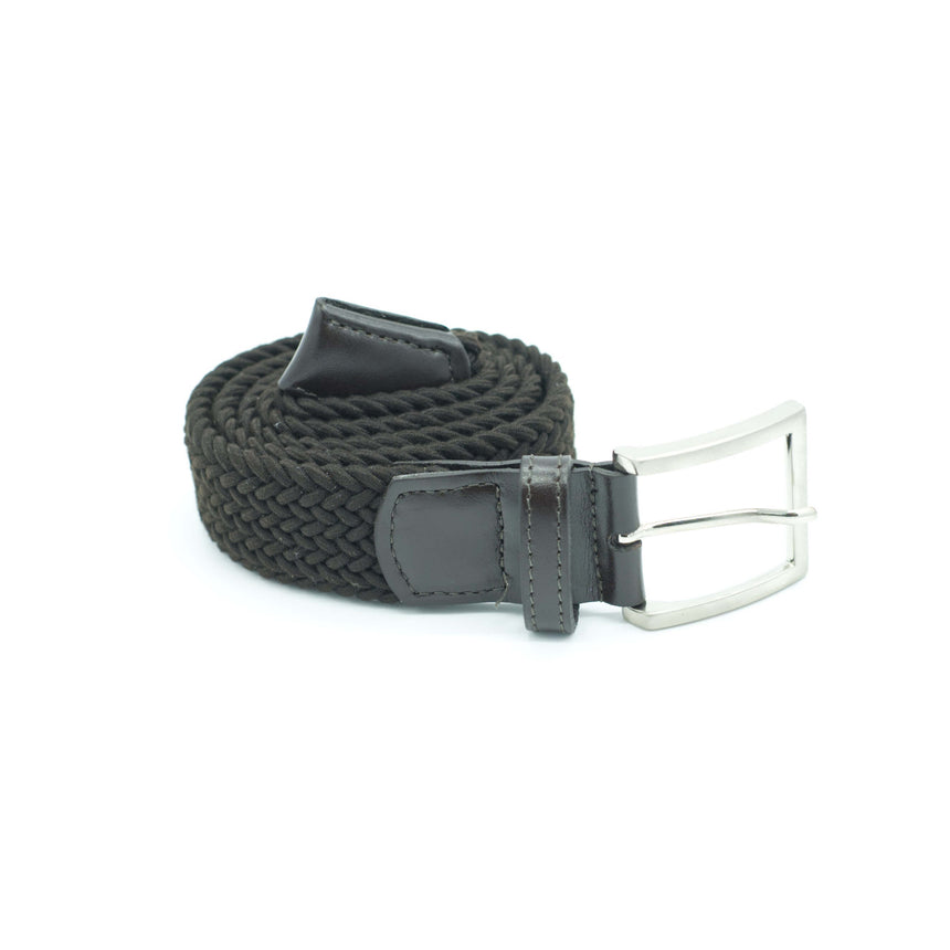 Vernizzi stretch belt - Dark Brown