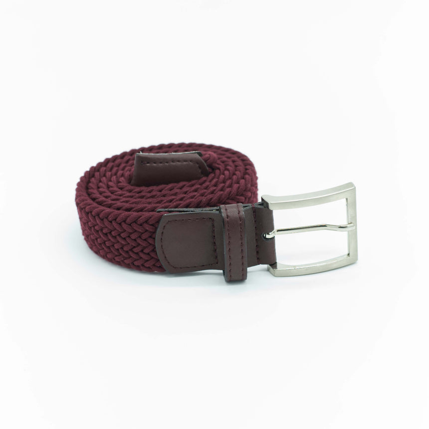 Vernizzi stretch belt - Burgundy