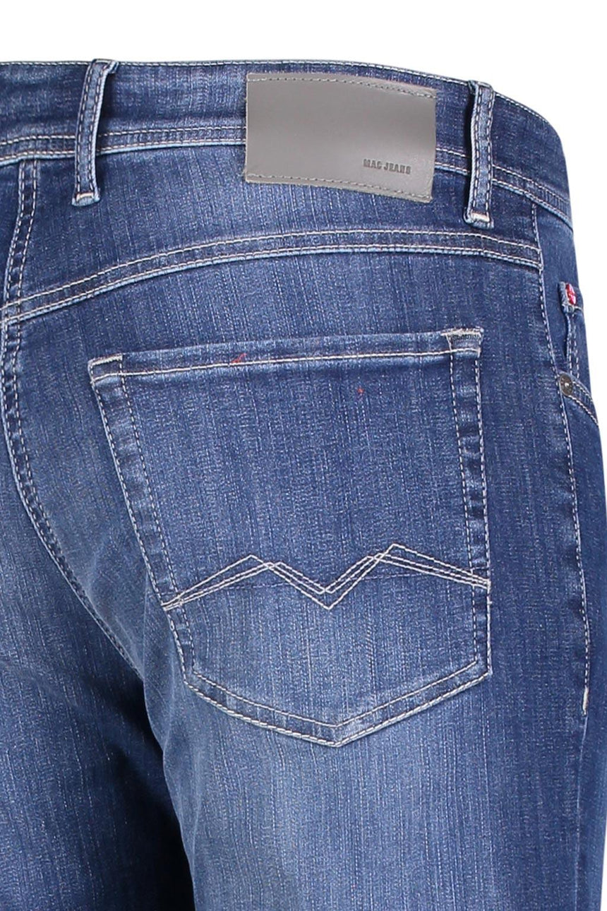 MAC FLEXX Jeans - Deep blue vintage wash H559