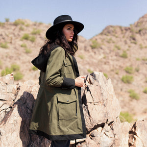 Reversible Womens Travel Coat with pockets