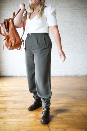 Tencel Travel Pant - Olive Ash