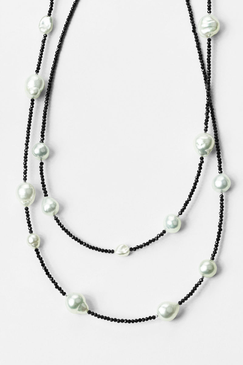 Collier Spinelle et Perles Blanches