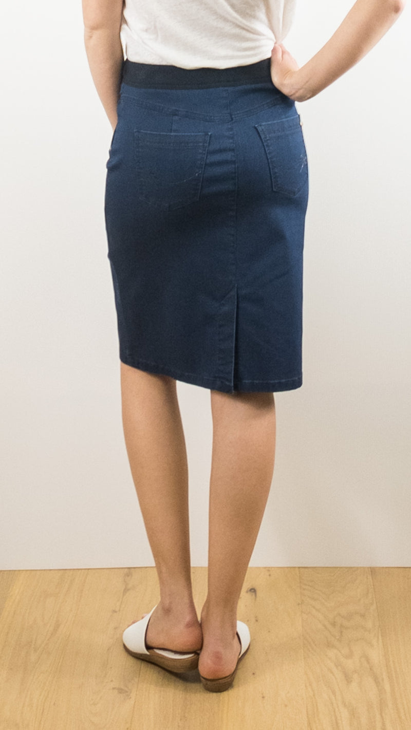 JUPE ELASTIQUEE TONI DRESS MODELE 2131 2907 NAVY