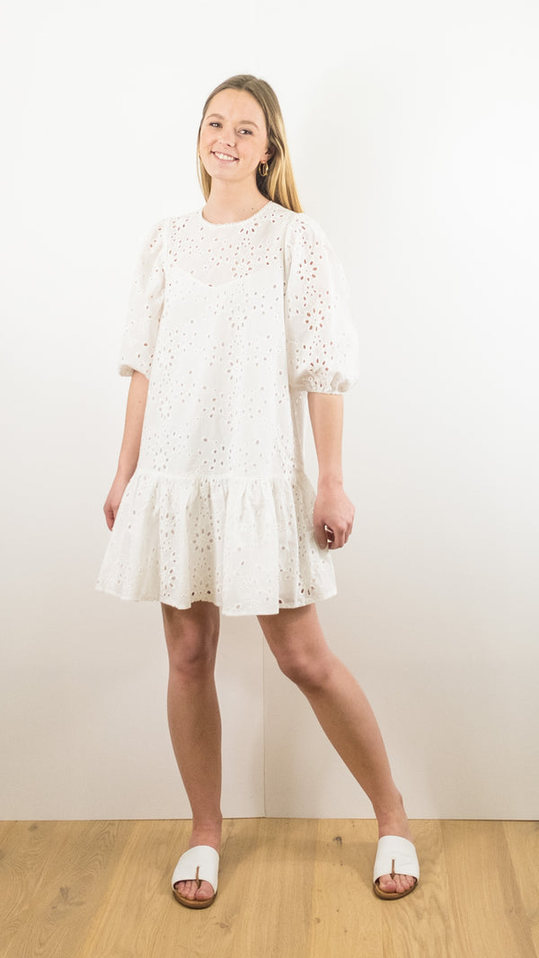 ROBE CLAUDIA GRACE ET MILA BRODERIE ANGLAISE ECRU