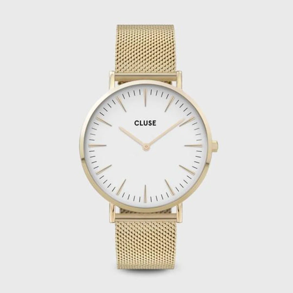 MONTRE CLUSE BOHO CHIC MESH WHITE GOLD