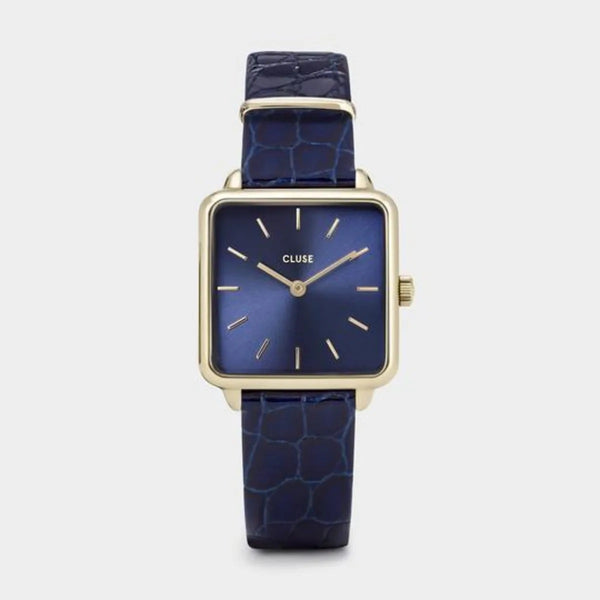 MONTRE CLUSE LA TETRAGONE LEATHER BLUE ALLIGATOR