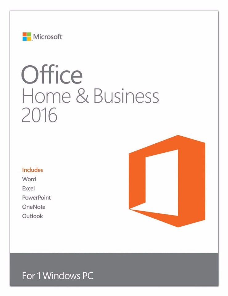 Microsoft Office Home and Business 2016 Retail Box - 1 User