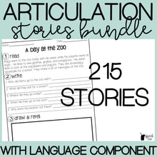 Load image into Gallery viewer, Articulation Stories with Language Component Bundle