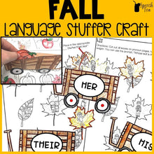 Load image into Gallery viewer, Fall Language Stuffer Craft