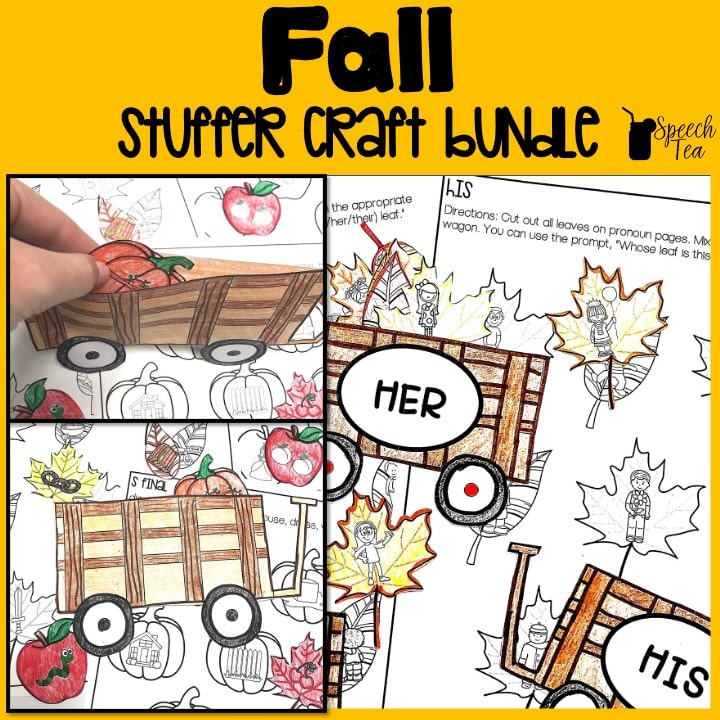 Fall Speech Therapy Stuffer Craft Bundle