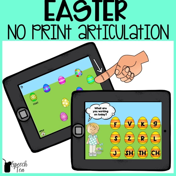 No Print Easter Articulation