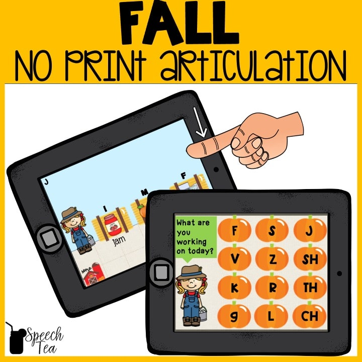 No Print Fall Articulation