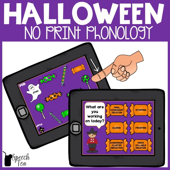 Halloween Phonological Processes No Print