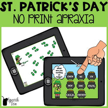 Load image into Gallery viewer, No Print St. Patrick's Day Apraxia