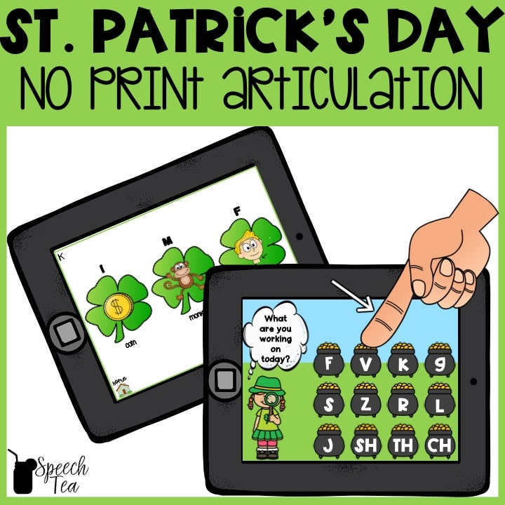 No Print St. Patrick's Day Articulation