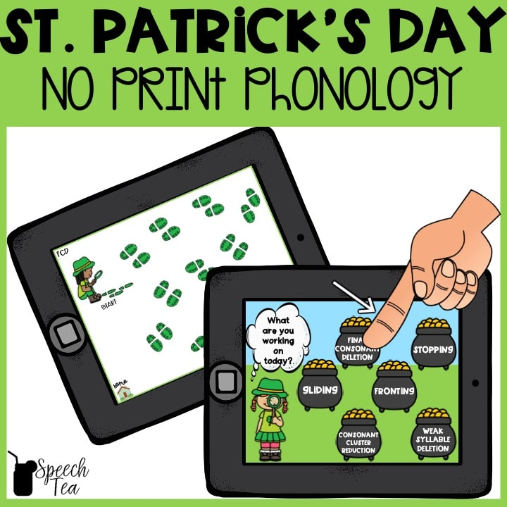 No Print St. Patrick's Day Phonological Processes
