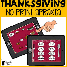 Load image into Gallery viewer, No Print Thanksgiving Apraxia