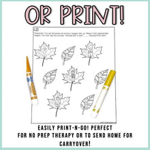 Load image into Gallery viewer, Fall Speech Therapy Stuffer Craft Bundle