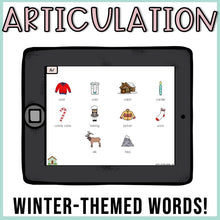 Load image into Gallery viewer, No Print Winter Speech Therapy Drill Cards