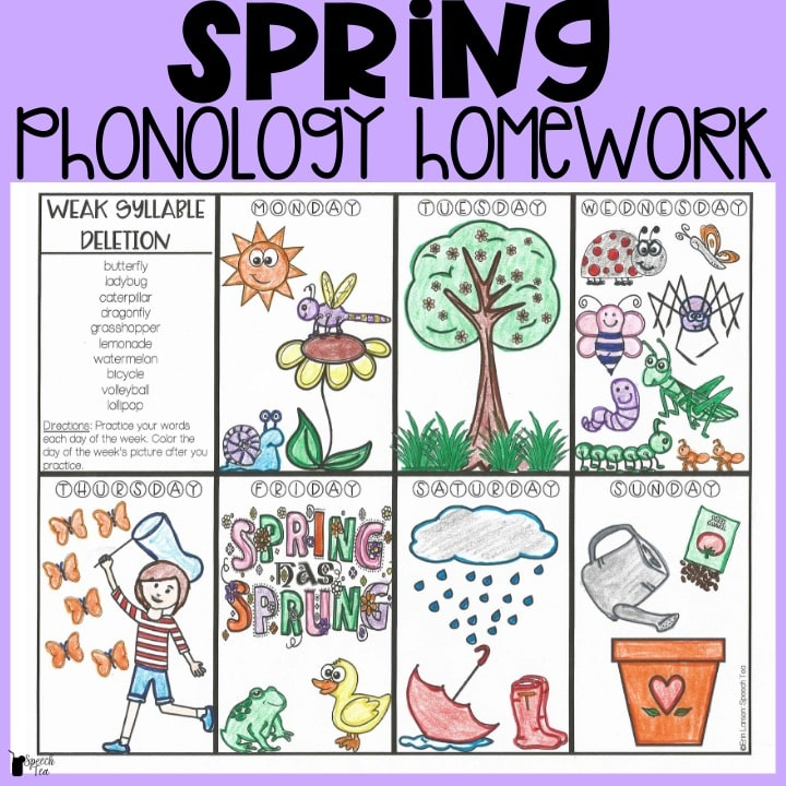 Spring Phonological Processes Homework