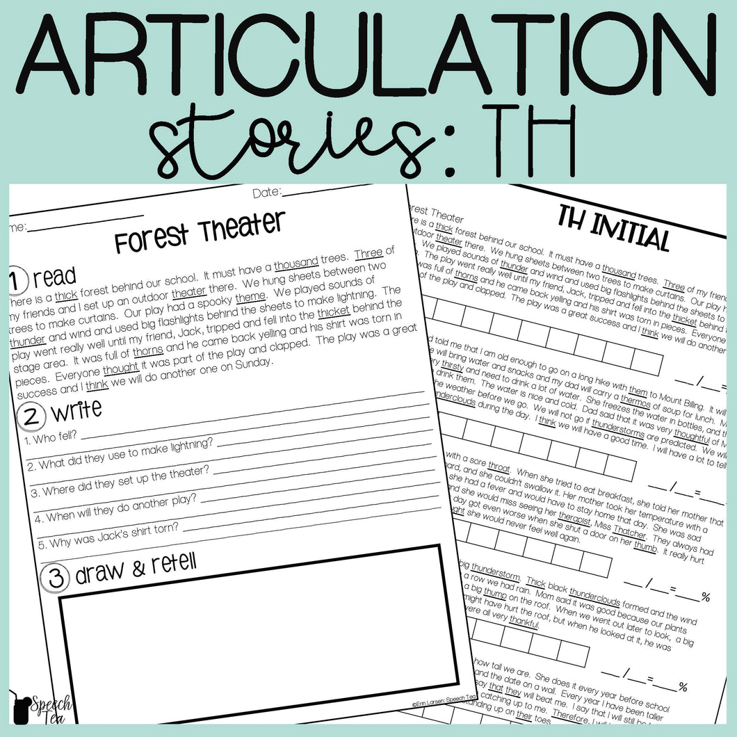 TH Articulation Stories