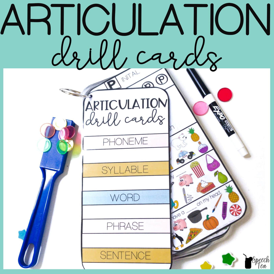 Articulation Drill Cards: Multi-leveled in All Positions