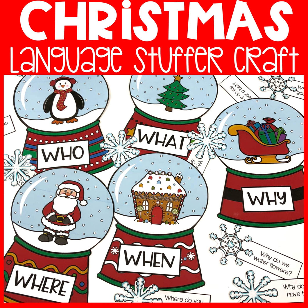 Christmas Language Stuffer Craft