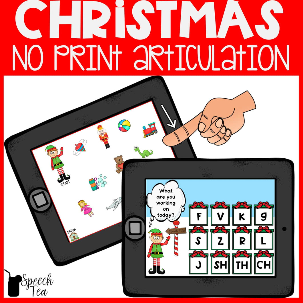 No Print Christmas Articulation