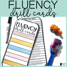 Load image into Gallery viewer, Fluency Drill Cards