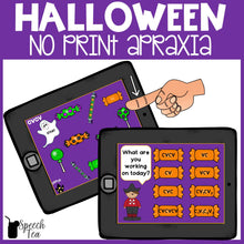 Load image into Gallery viewer, No Print Halloween Apraxia