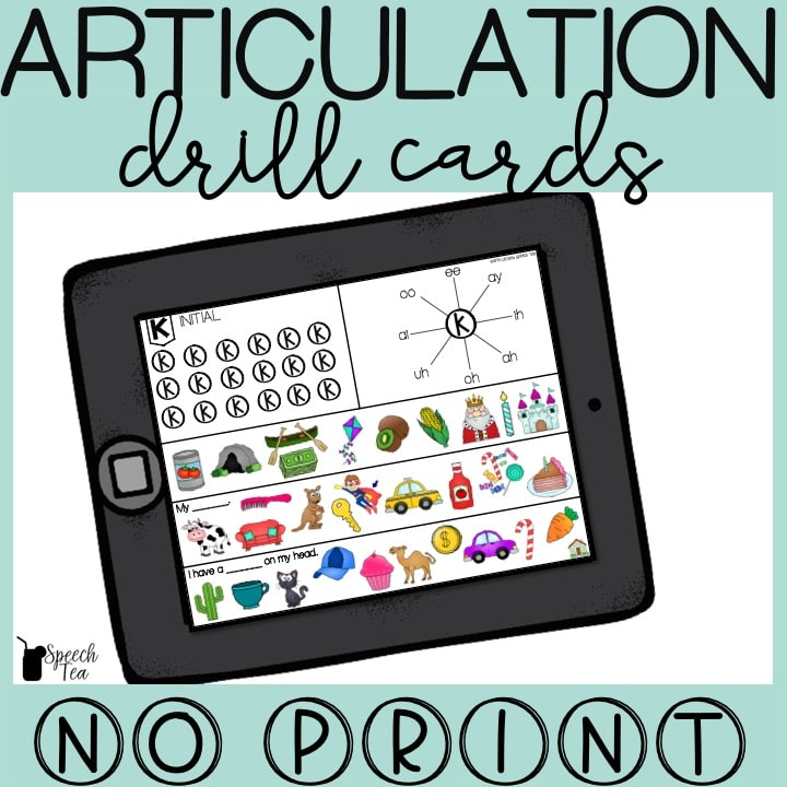 No Print Articulation Drill Cards