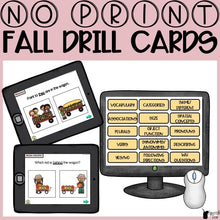 Load image into Gallery viewer, No Print Fall Speech Therapy Drill Cards