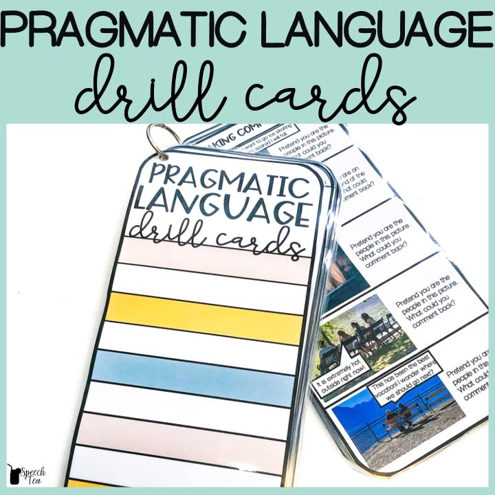Pragmatic Language Drill Cards