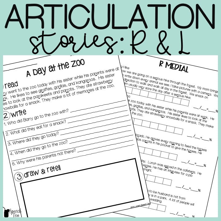 R and L Articulation Stories