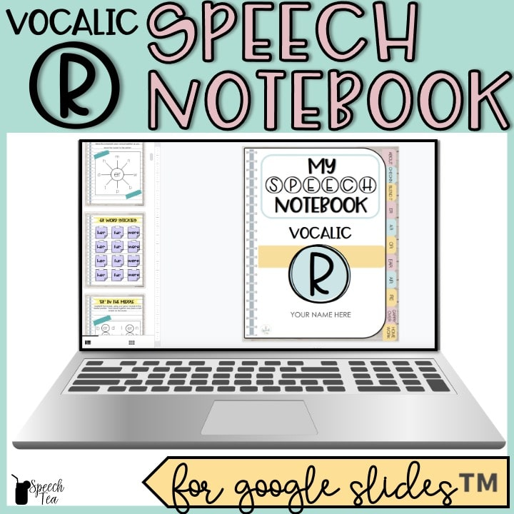 Vocalic R Articulation Digital Interactive Notebook